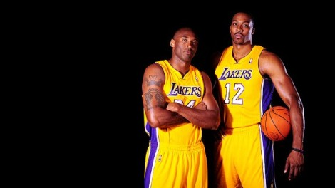 Kobe Bryant and Dwight Howard of the LA Lakers