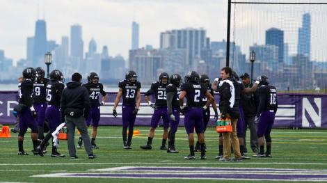 Northwestern football practice