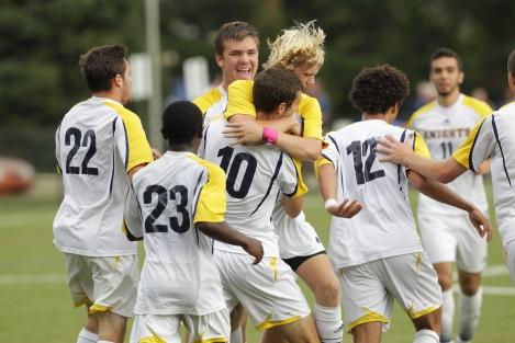 Men's soccer win